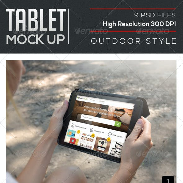 Outdoor Tablet Mock Up