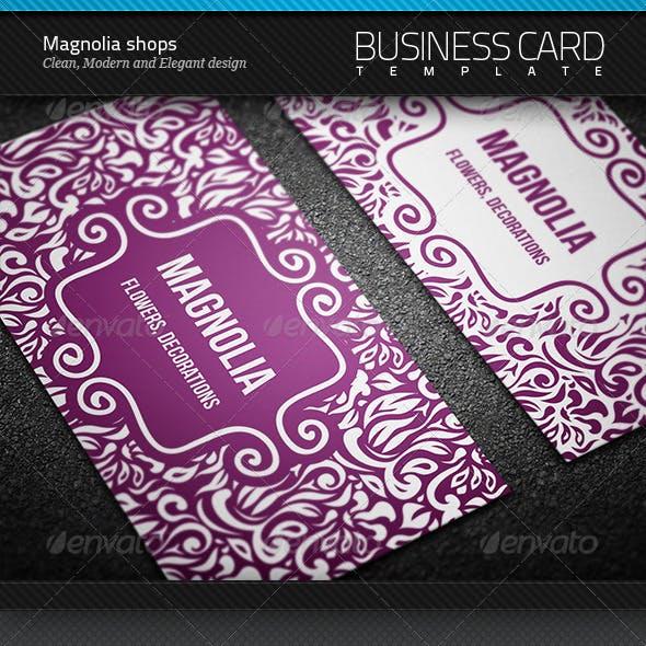 Magnolia Shops Business Card