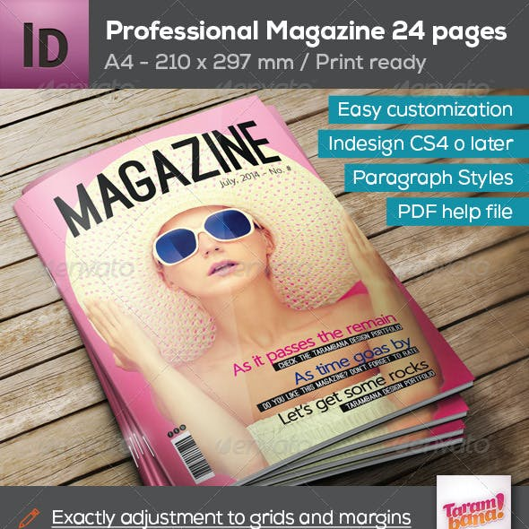 Professional Magazine A4 - 24 pages