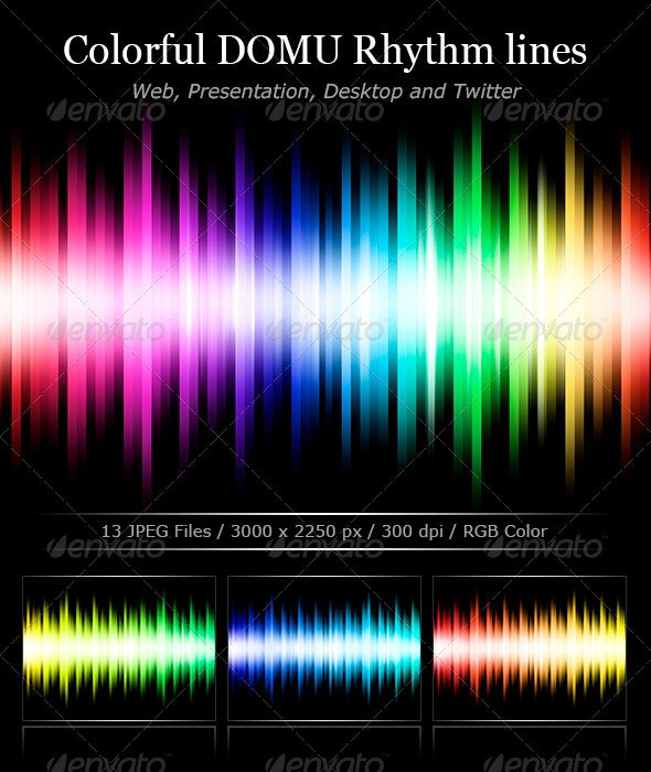 Colorful Rhythm Lines Backgrounds - Tech / Futuristic Backgrounds
