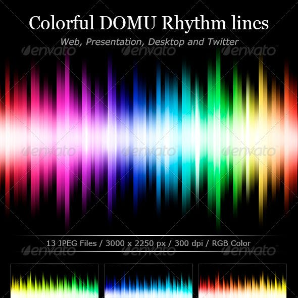 Colorful Rhythm Lines Backgrounds