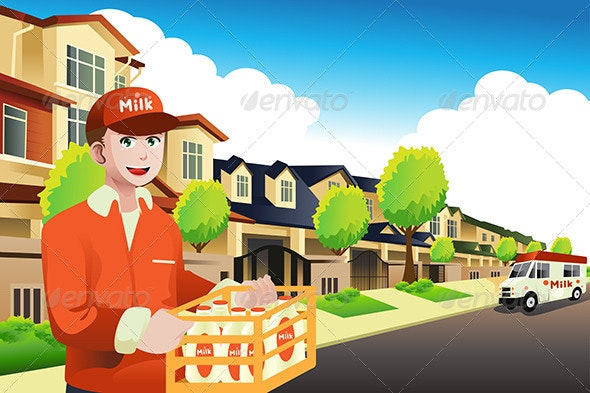 Milk Delivery Man  - People Characters