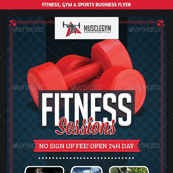 Sports, Fitness & Gym Promotion Flyer