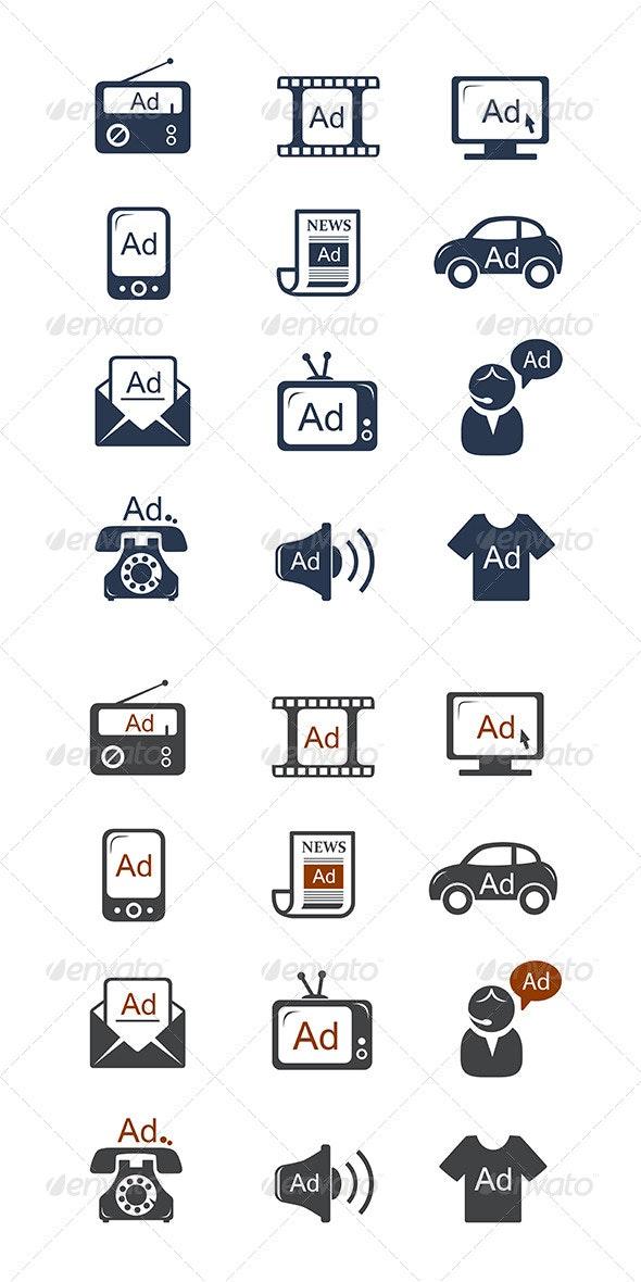 Advertisement Icons Set - Business Conceptual