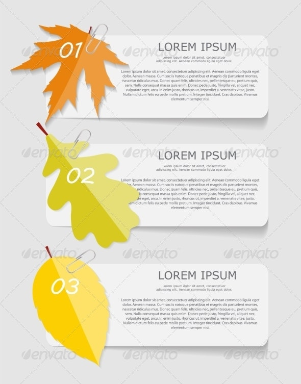 Autumn Leaves Infographic Templates for Business - Web Technology