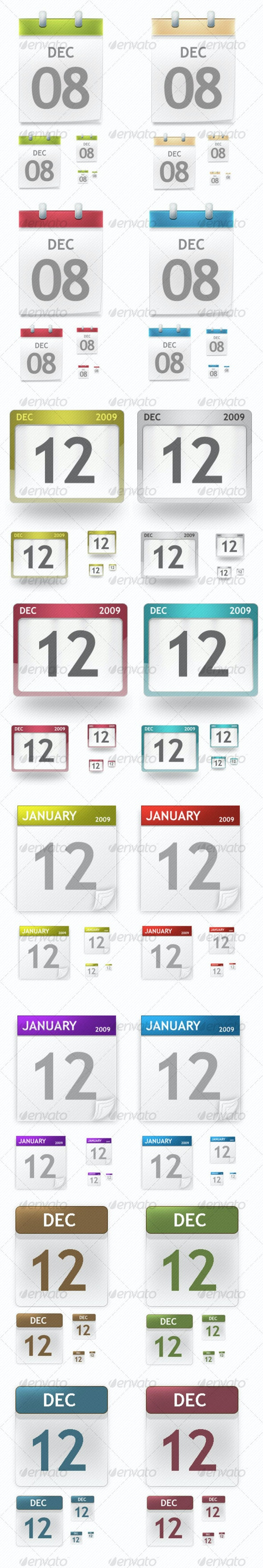 Date Calendar Icon Pack - Web Icons