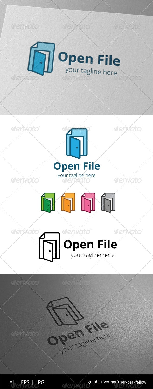 Open Door File Document Logo - Symbols Logo Templates