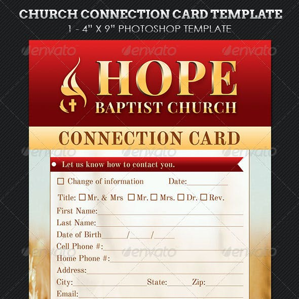 Church Connection Card Template