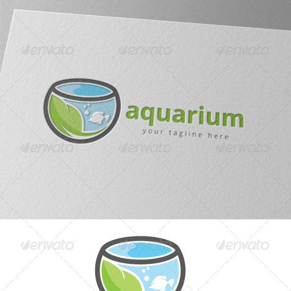 Green Aquarium Fish Logo