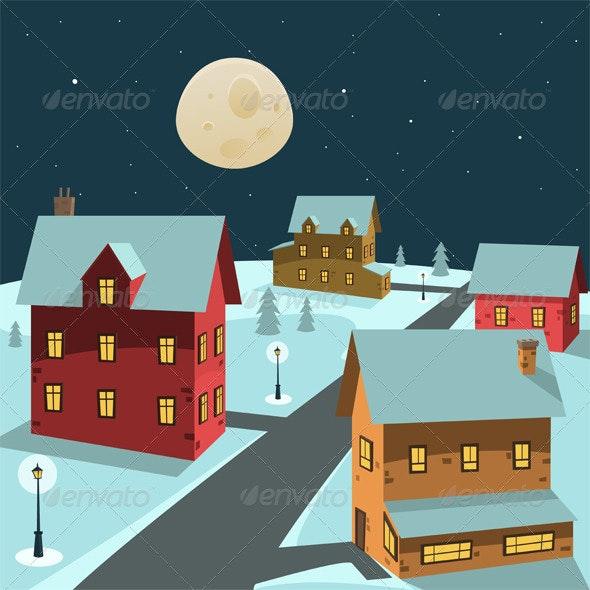 Winter Village - Buildings Objects