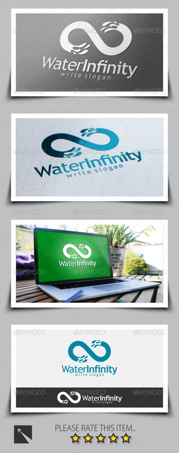 Water Infinity Logo Template - Symbols Logo Templates