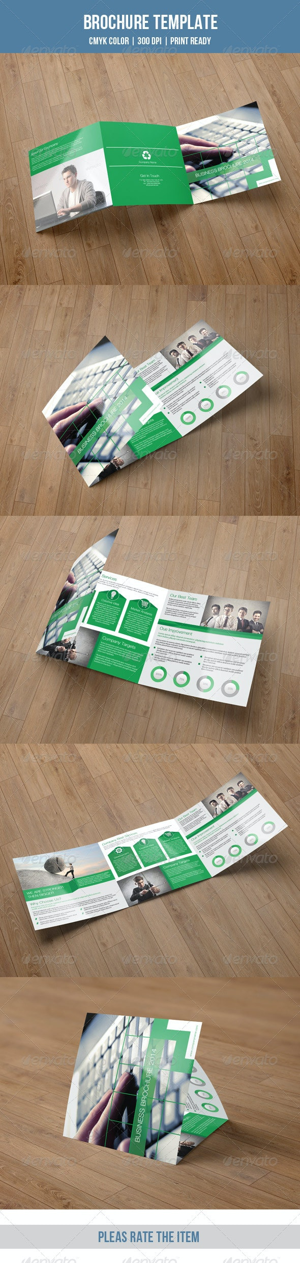 Square Trifold Business Brochure-V31 - Corporate Brochures