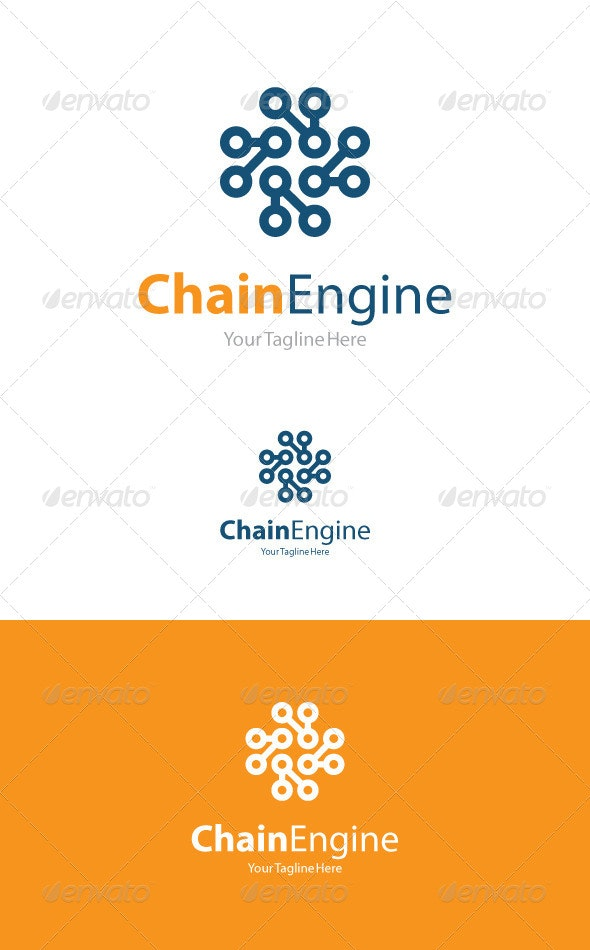 Chain Engine - Abstract Logo Templates