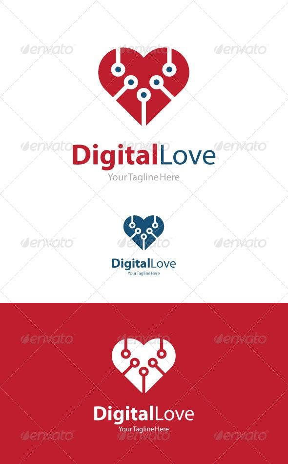 Digital Love - Symbols Logo Templates