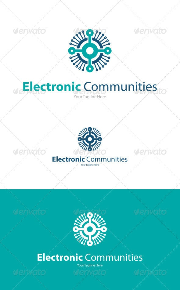 Electronic Communities - Abstract Logo Templates