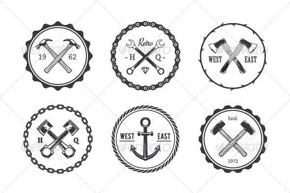 Circle Crafts Emblems - Decorative Vectors