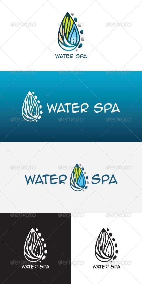 Water Spa Stock Logo Template - Nature Logo Templates