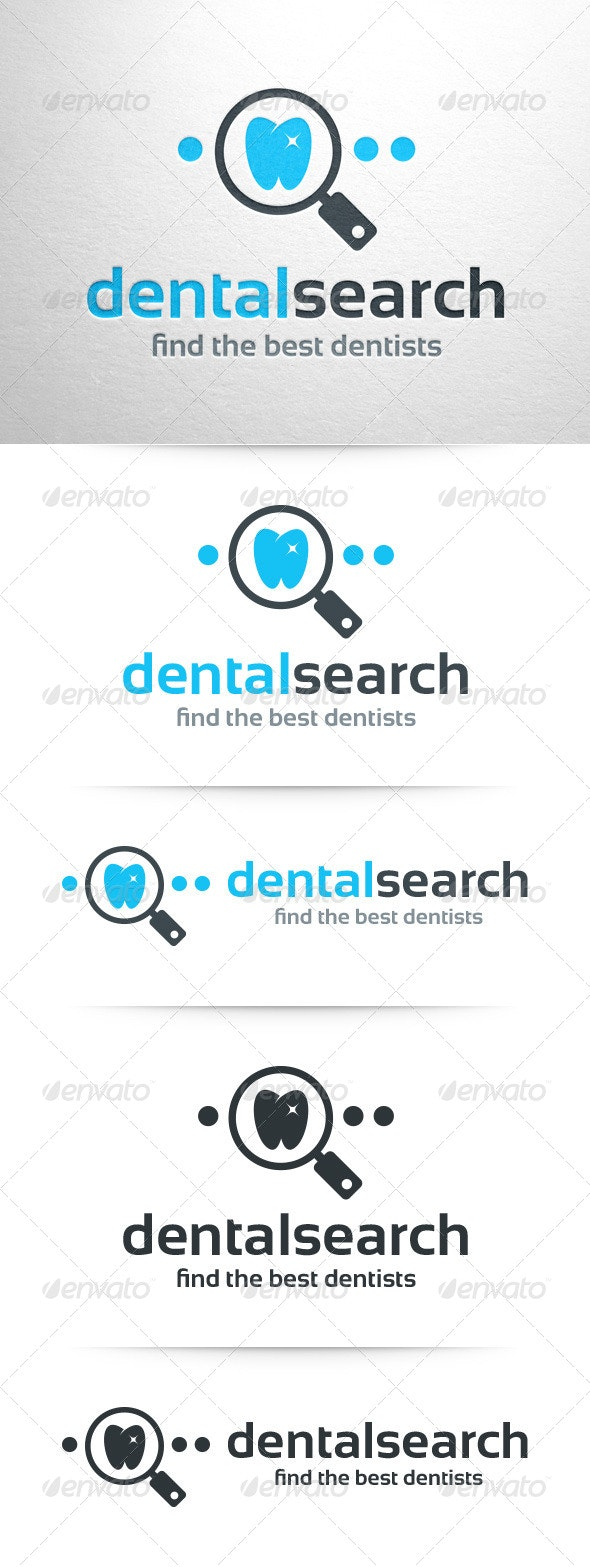 Dental Search Logo Template - Objects Logo Templates
