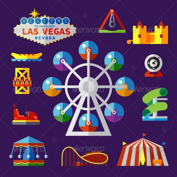 Amusement Park Elements - Decorative Symbols Decorative