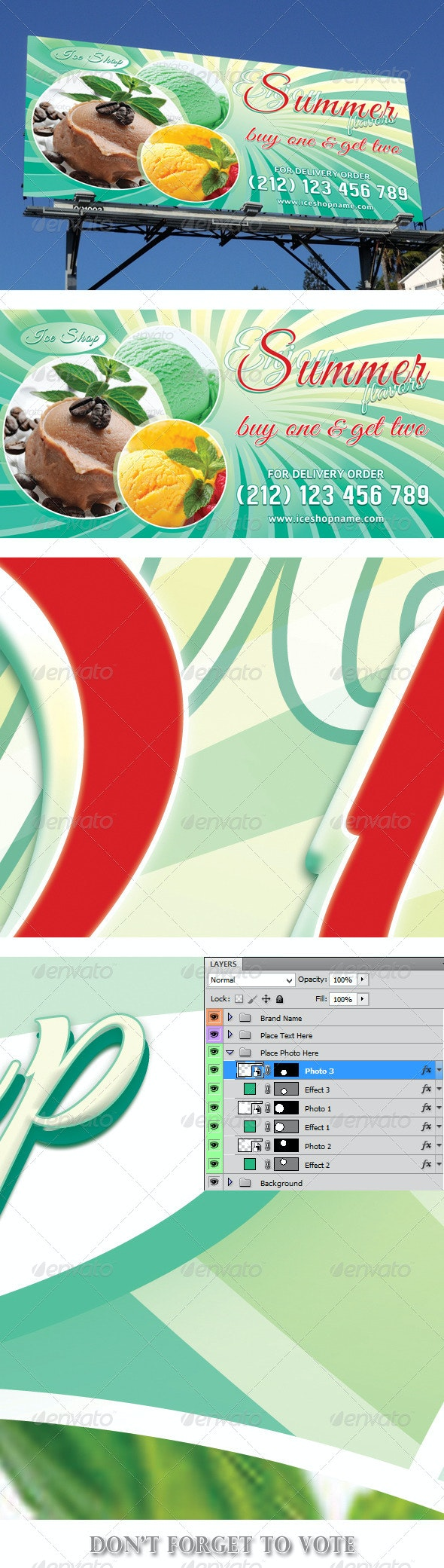 Summer Flavors Outdoor banner 25 - Signage Print Templates