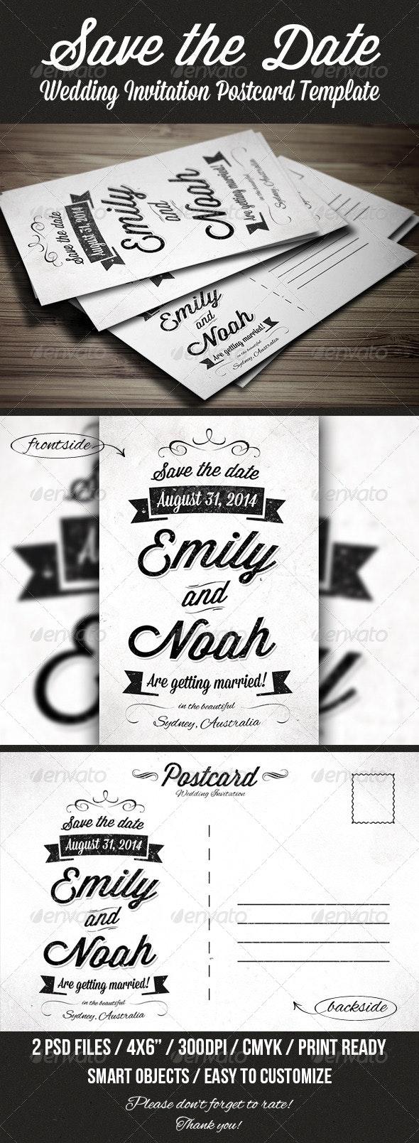 Save the Date Invitation Postcard - Weddings Cards & Invites