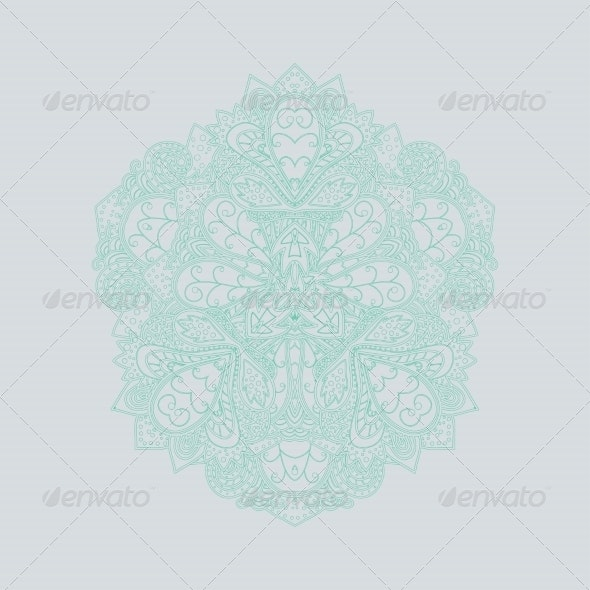 Ornamental Round Lace Pattern - Flourishes / Swirls Decorative