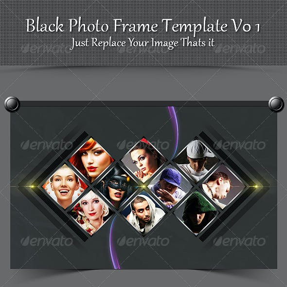 Black Photo Frame Template V01