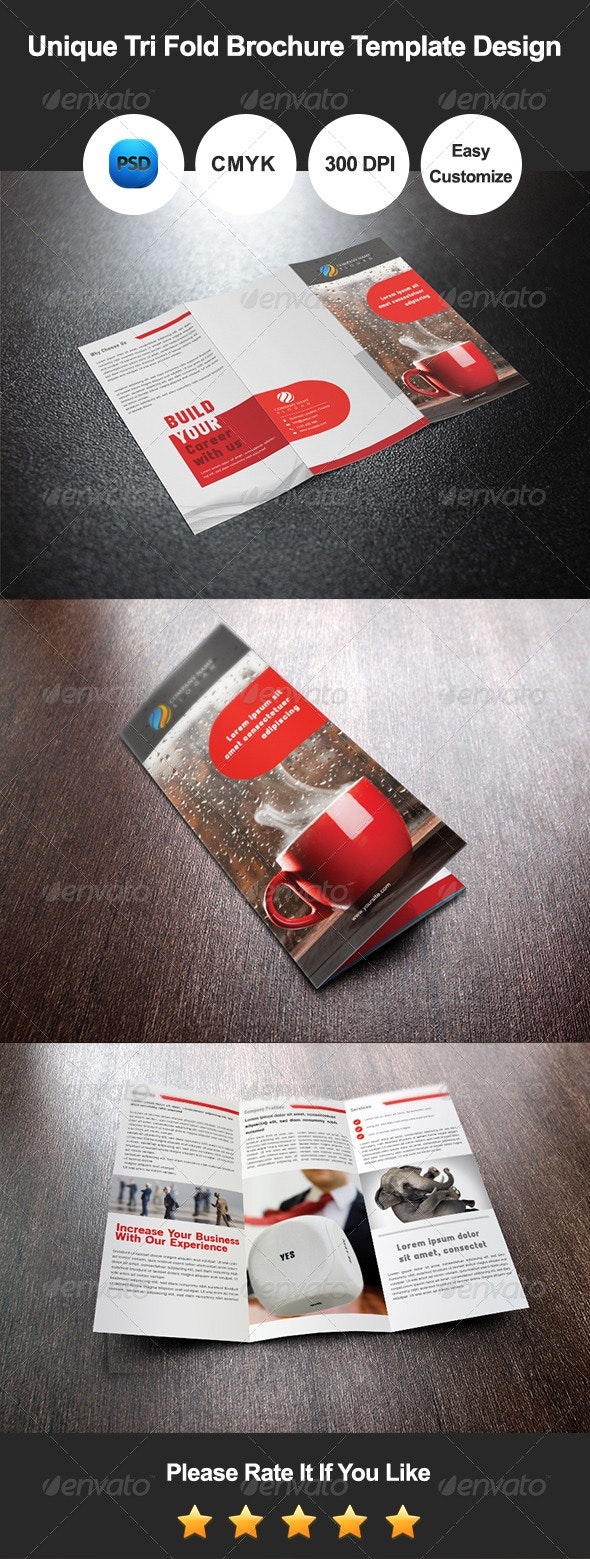 Tri Fold Brochure Template Design - Corporate Brochures