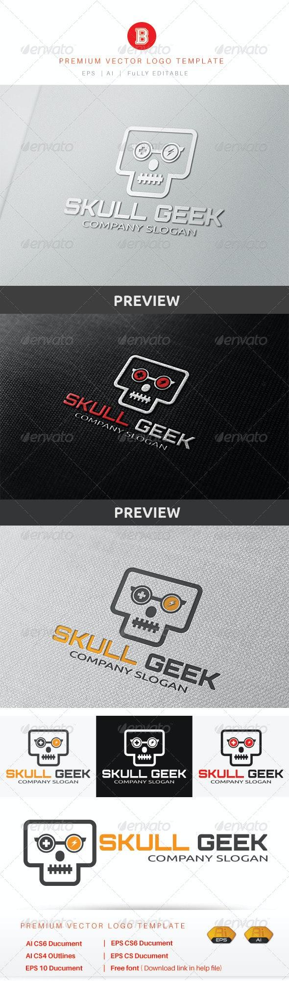 Skull Geek - Humans Logo Templates