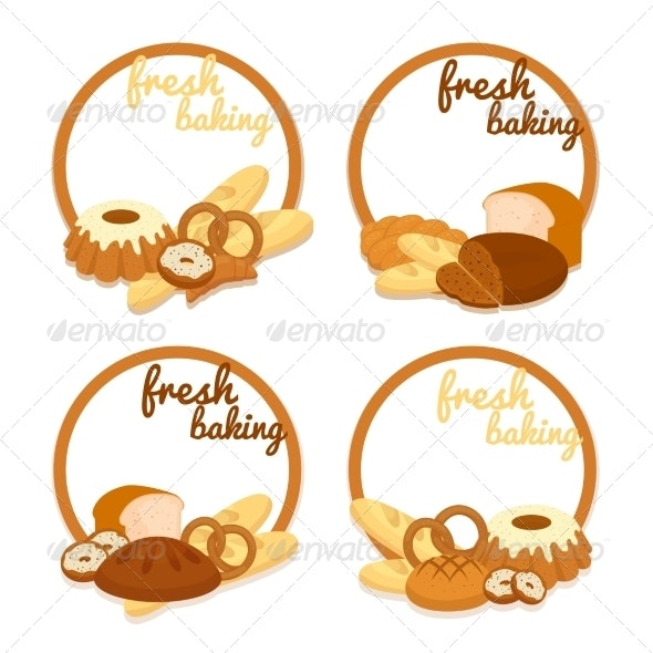 Fresh Baking Price Badges - Food Objects