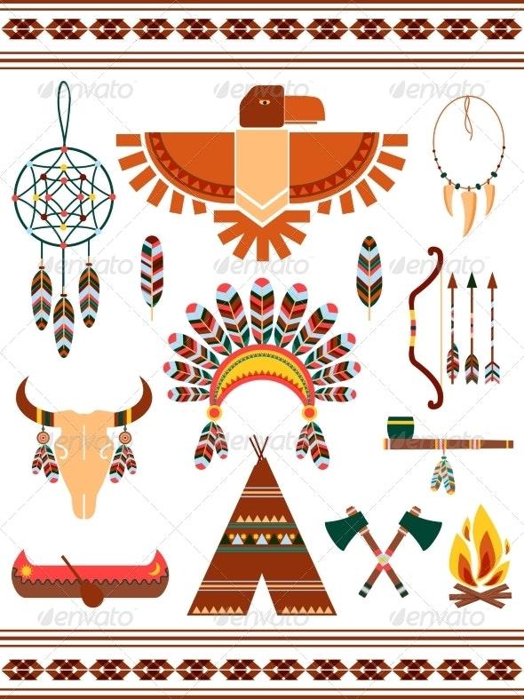 Aztec Decorative Elements - Miscellaneous Vectors