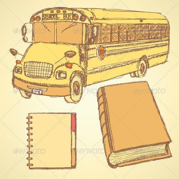 School Sketches - Backgrounds Decorative