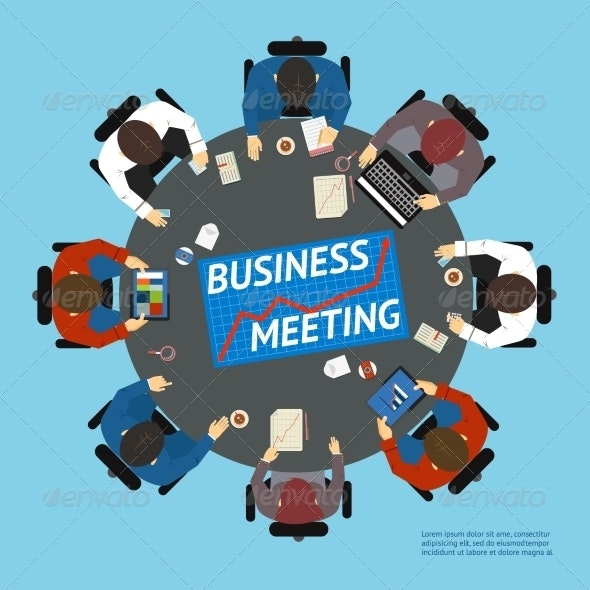 Business People at a Negotiating Table - Concepts Business