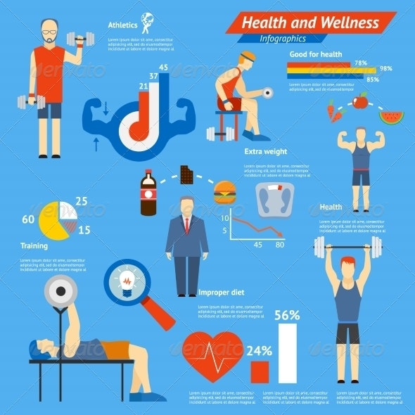 Sport and Fitness Infographics - Health/Medicine Conceptual