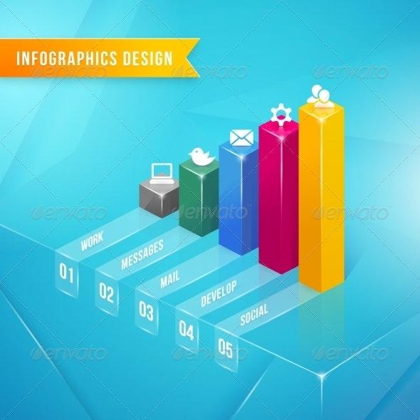 3d Bar Chart - Web Elements Vectors