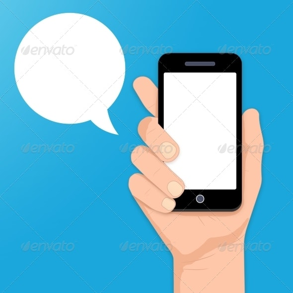 Smartphone in Hand - Communications Technology
