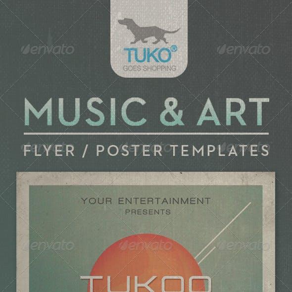 Flyer / Poster / Music & Art Event