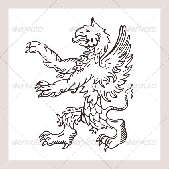 Griffins Illustration - Animals Characters