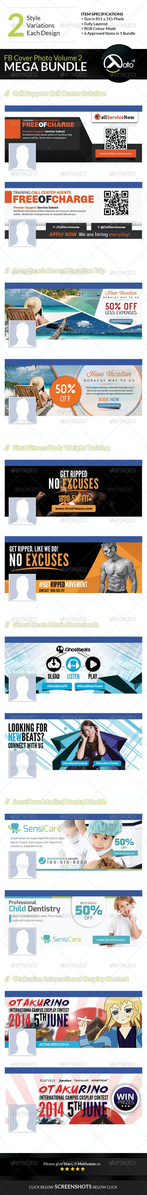 6 in 1 Mix FB Banners Vol 2 - Banners & Ads Web Elements