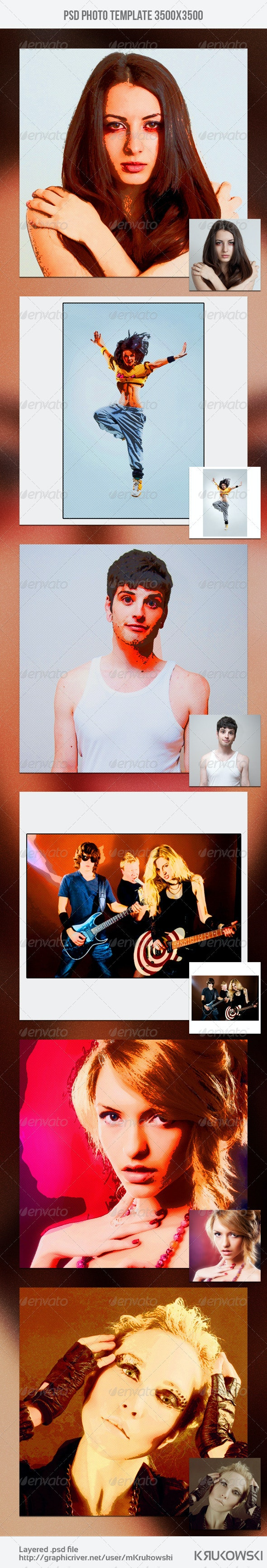 Pop Art Photo Template - Artistic Photo Templates