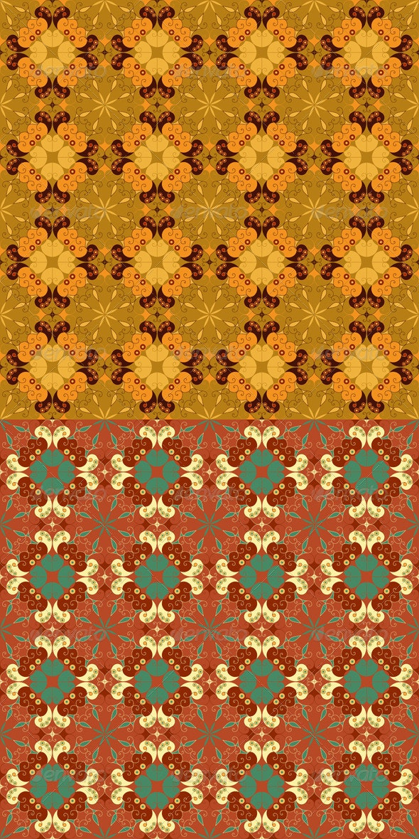 Two Abstract Seamless Patterns - Patterns Decorative