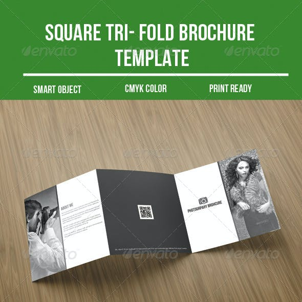 Square Tri- fold Photography Brochure