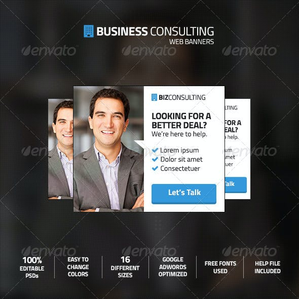 Business Consulting Web Ad Marketing Banners