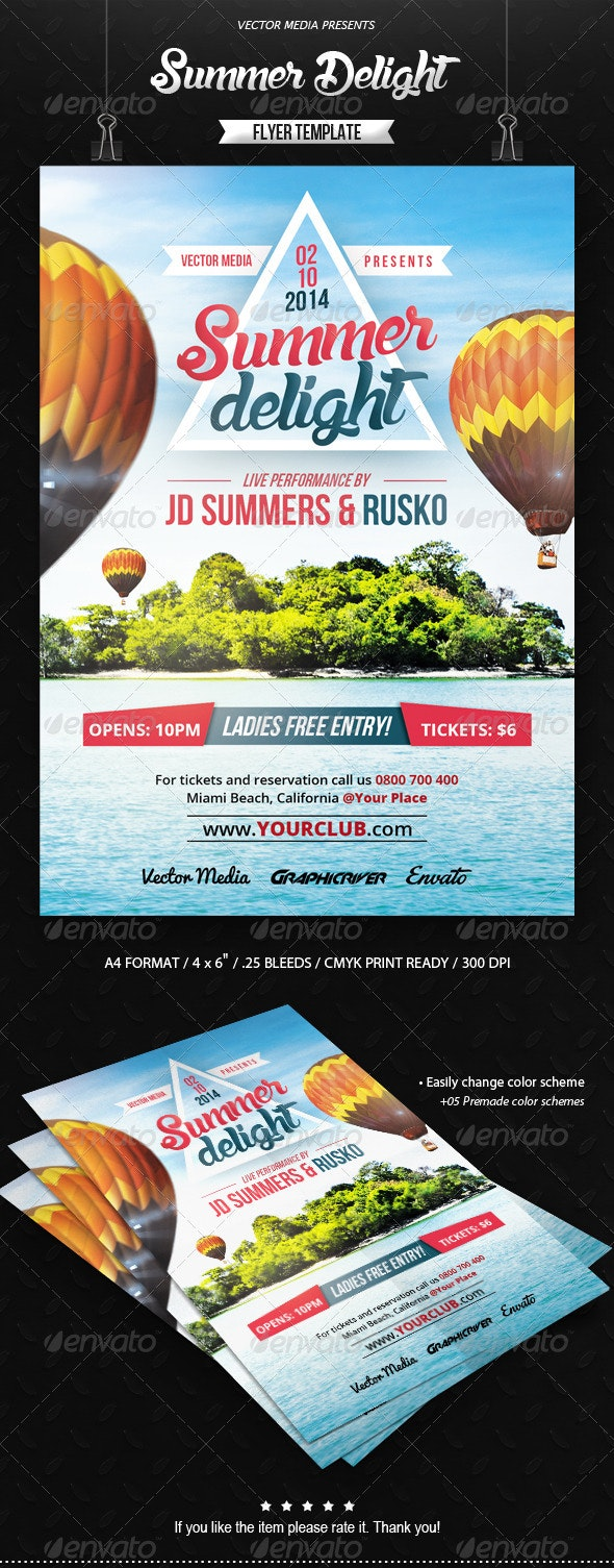 Summer Delight - Flyer - Clubs & Parties Events