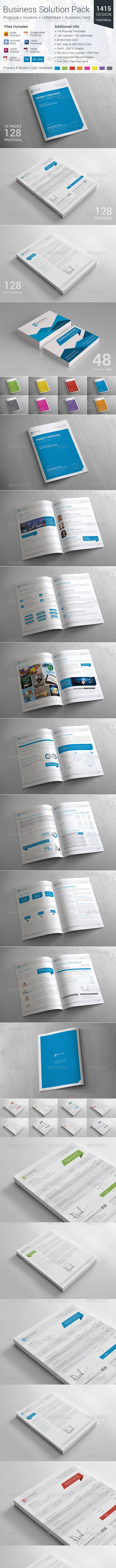 Inventive Business Solution Pack - Proposals & Invoices Stationery
