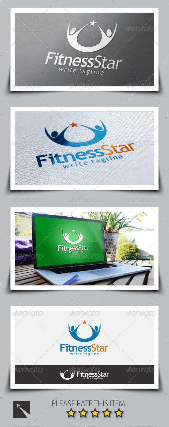 Star Fitness Logo Template - Symbols Logo Templates