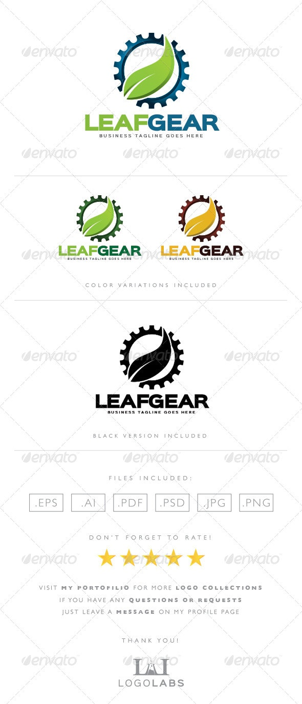 Nature Gear Logo - Objects Logo Templates