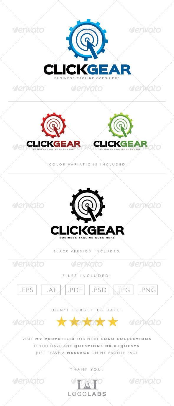 Click Gear Logo - Objects Logo Templates