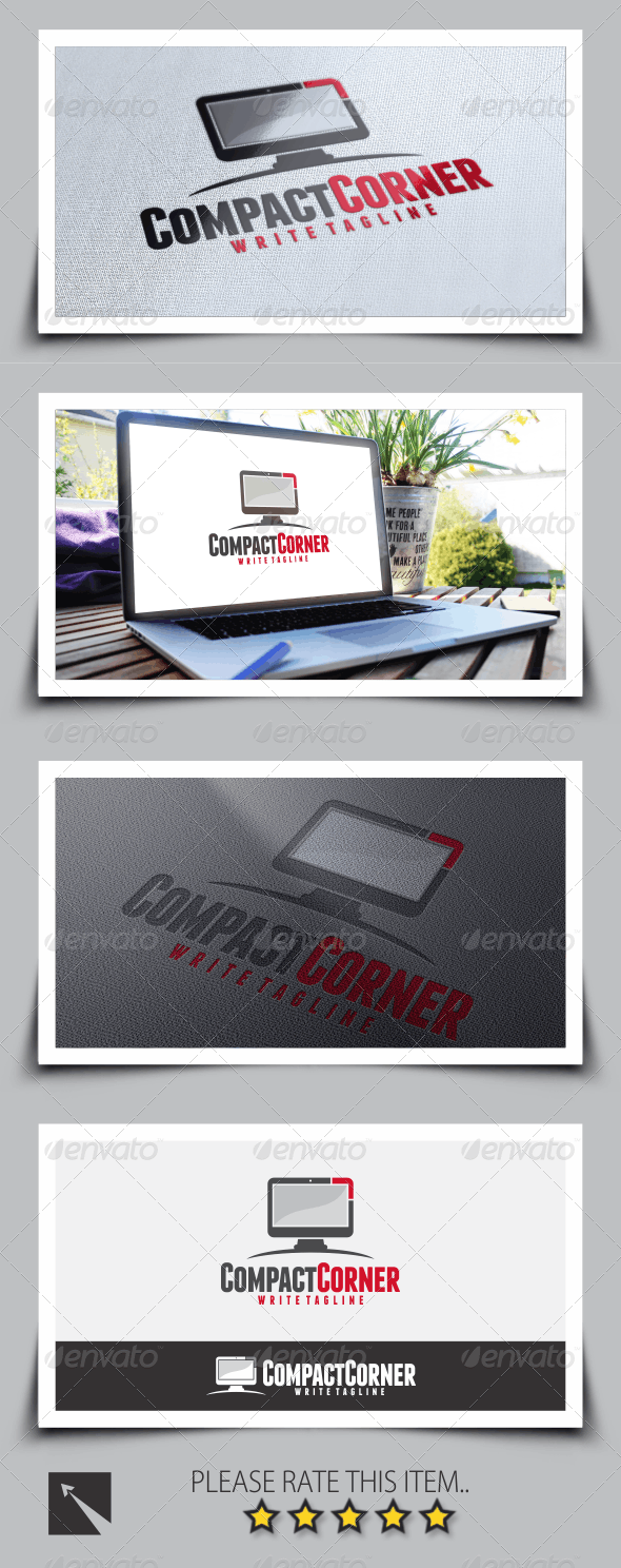 Television Corner Logo Template - Objects Logo Templates
