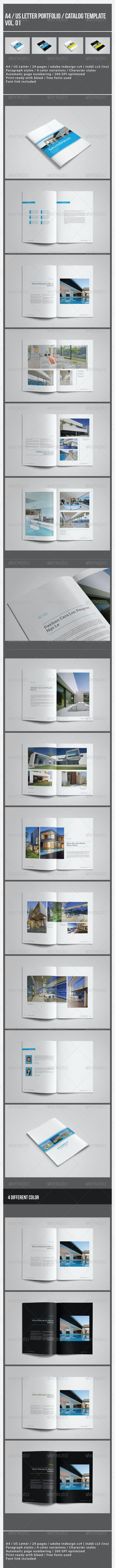 Portrait Portfolio / Catalog Template Vol. 01 - Portfolio Brochures